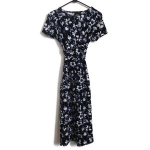 ASOS Navy Floral Midi Maternity Dress Sz 10